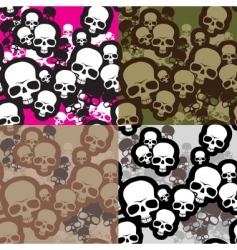Skulls camouflage vector