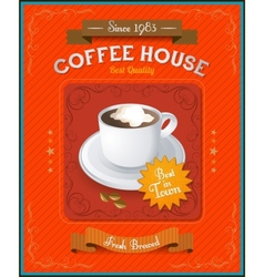 Vintage coffee house card vector