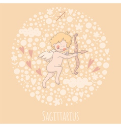 Cartoon of the archer sagittarius vector