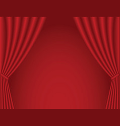 Classical dark red theater curtain background vector