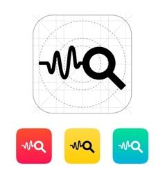 Cardiogram monitoring icon vector