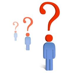 Question mark concept vector