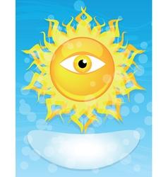 Sun with eye vector
