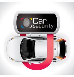 Car lock security vector