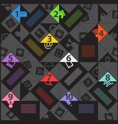 Modern color social media content template vector