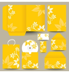 Floral cd and packaging vector