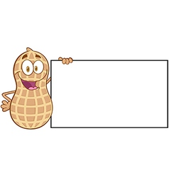 Happy peanut cartoon sticker vector