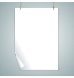 White blank flat design vector