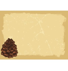 Paper with pinecone horizontal vector