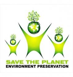 Environment saving background vector
