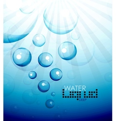 Deep water bubbles background vector