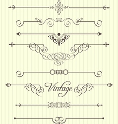 Calligraphic design elements and page decor vector