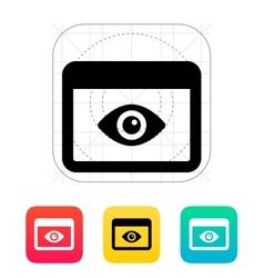Application monitoring icon vector