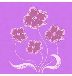 Bush flowers vector