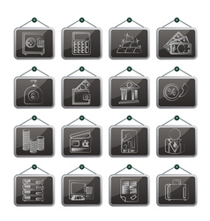 Bank and finance icons vector
