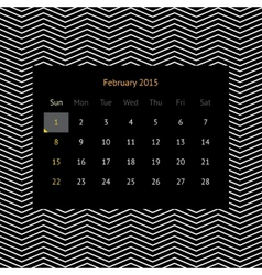 Calendar page for february 2015 vector