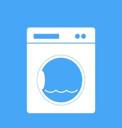 Washing machine on a blue background vector