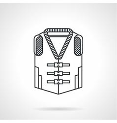 Life vest black line icon vector