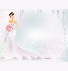 Elegant bride vector
