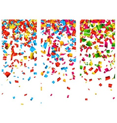 Confetti celebration banners vector