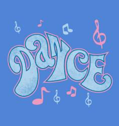 Dance logo vector