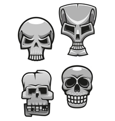 Set of monster skull mascots vector