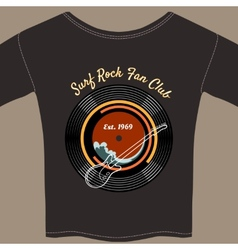 Surf rock tee shirt vector