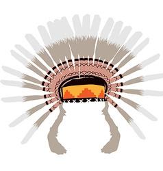 Feather headdress vector