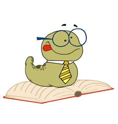 Knowledgeable old worm vector