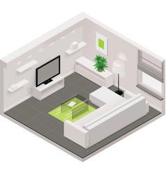Isometric living room icon vector