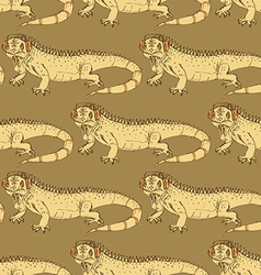 Sketch fancy iguana in vintage style vector