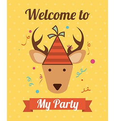 Animal party vector