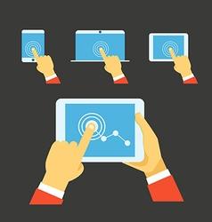 Using modern digital gadgets vector