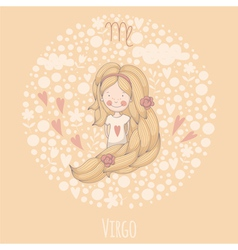 Cartoon of the maiden virgo vector