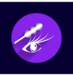 Eyelashes and eyebrows eyelash eye icon makeup vector