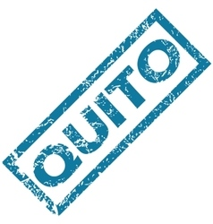 Quito rubber stamp vector
