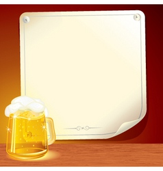 Beer poster for your text vector