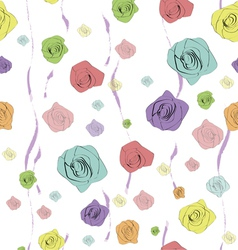 Classical seamless rose pattern vector