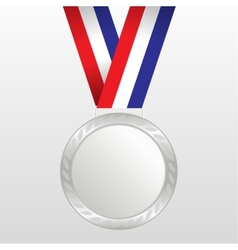 Silver medal winners on the tape vector