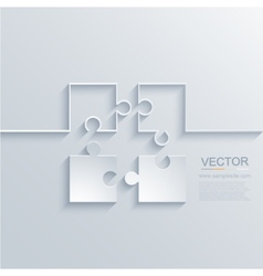 Modern puzzle background vector