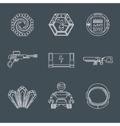 Space game icons vector