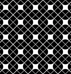 Black and white geometric abstract seamless vector