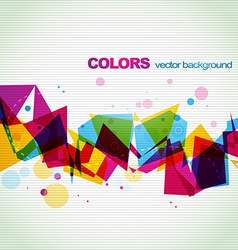 Colorful abstract eps10 shape design vector