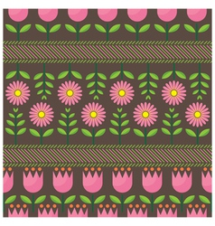 Pink flower pattern vector