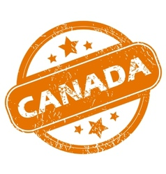Canada grunge icon vector