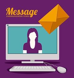 Communication design vector