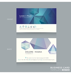 Abstract low poly design business card template vector