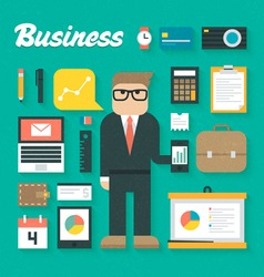 Trendy business flat icons se vector