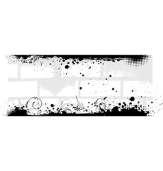 Banner in gray color with brick walls background vector