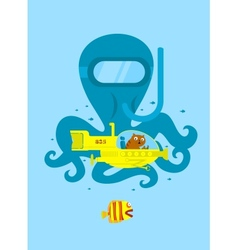 Underwater adventure vector